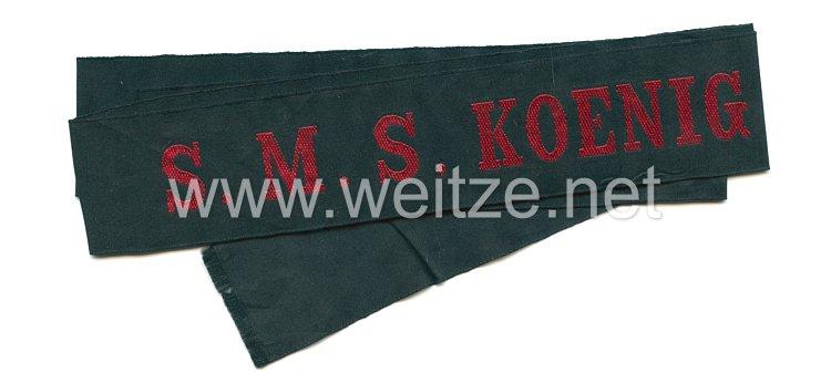 """Mützenband """"S.M.S. Koenig Wilhelm"""" für Schiffsjungen in Rot"""