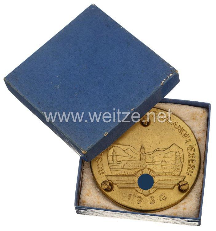 """III. Reich / DLV - Türplakette """" Rosenheim den Deutschlandfliegern 1934 """""""