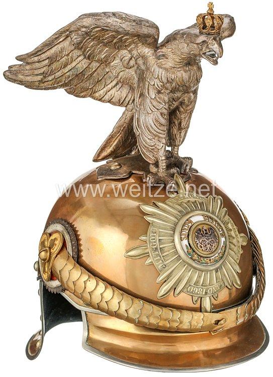 Preußen Helm für Offiziere im Regiment Garde du Corps, bzw. Garde-Kürassier-Regiment