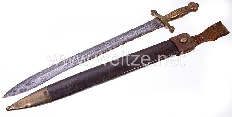 Russland Kanonier und Sappeur Faschinenmesser M 1835 mit Sägerücken .