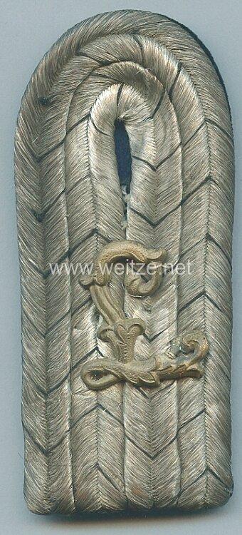 Preußen Einzel Schulterstück für einen Leutnant der Luftschiffer