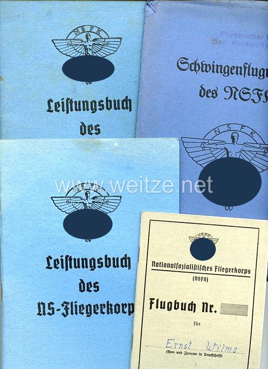 NSFK - Dokumentengruppe für einen Jungen des Jahrgangs 1928 aus Duisburg