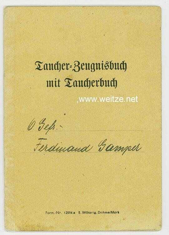 Heer - Taucher-Zeugnisbuch mit Taucherbuch für Pioniere