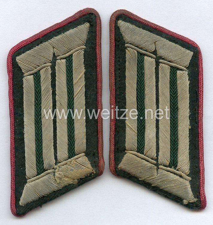 Wehrmacht Heer Paar Kragenspiegel für einen Beamten des mittleren Dienstesim OKH, Bildungswesen.