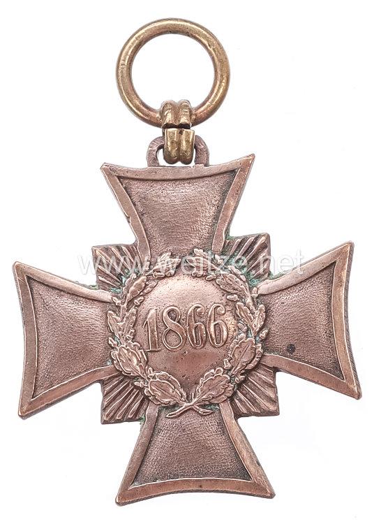 """Sachsen Königreich Erinnerungskreuz """"1866"""""""