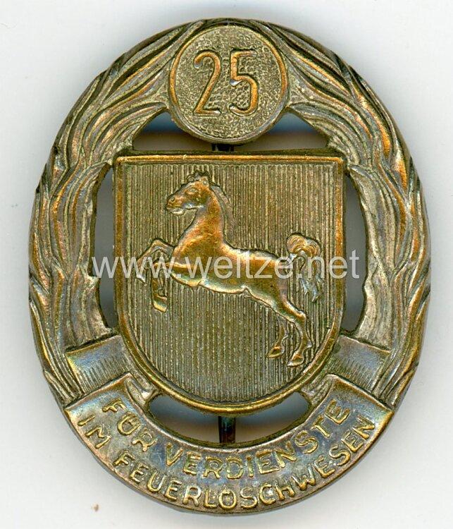 Bundesrepublik Deutschland ( BRD ) Niedersächsisches Feuerwehr-Ehrenzeichen für 25 Jahre Dienstzeit