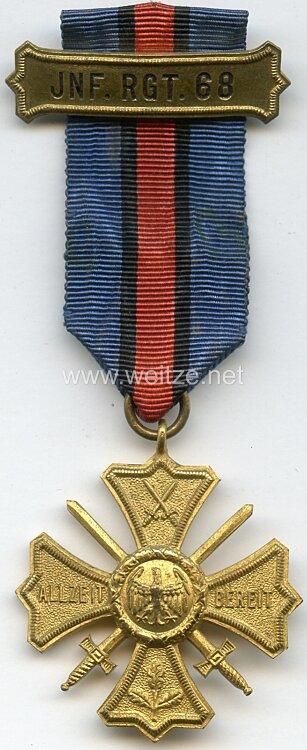 Preußen Regiments-Erinnerungskreuz des 6. Rheinischen Infanterie-Regiment Nr. 68 .