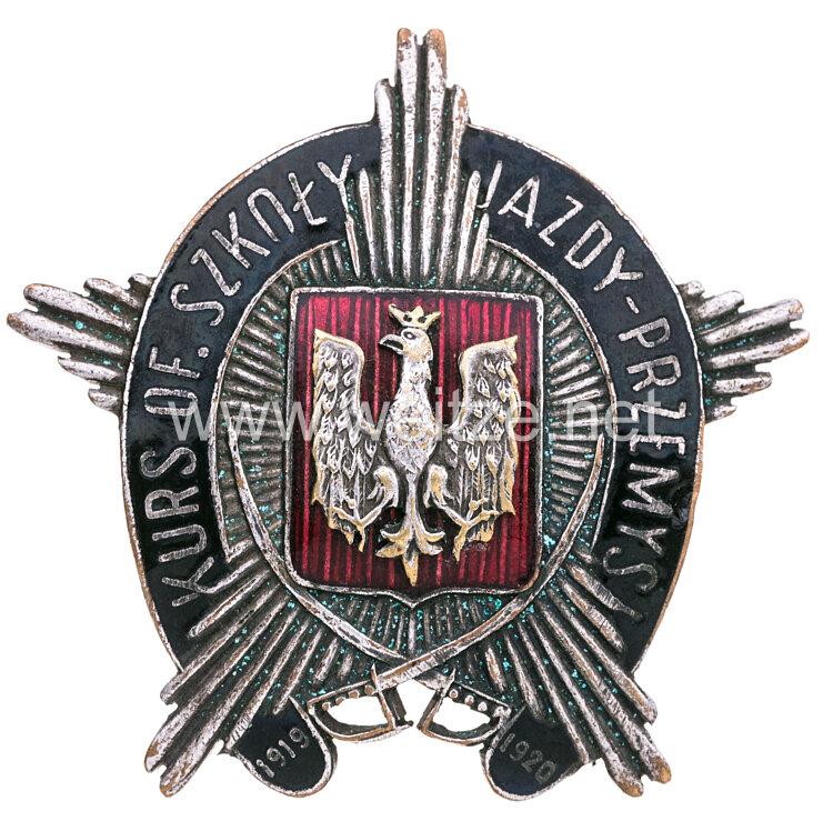 Polen 2. Weltkrieg Abzeichen der Militärfahrschule für Offiziere