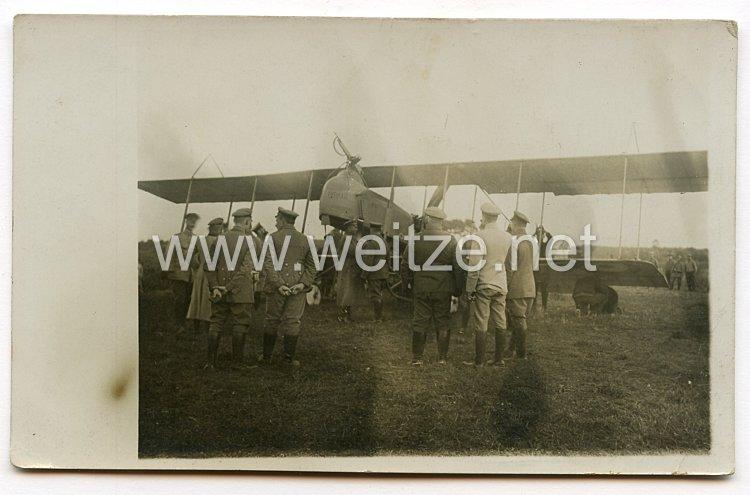 1. Weltkrieg Fliegerei: Foto einer feindlichen Maschine