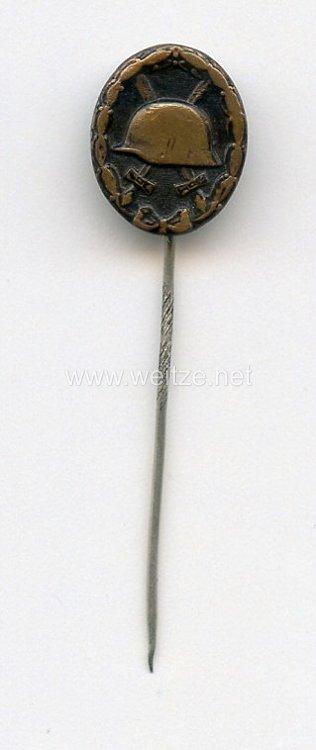 Verwundetenabzeichen in Schwarz 1939 - Miniatur Entnazifiziert