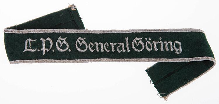 """Preußische Landespolizei Ärmelband """"L. P.G. General Göring"""" für Offiziere"""