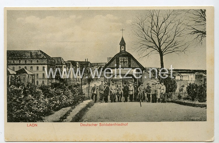 Postkarte Erster Weltkrieg: Deutscher Soldaten Friedhof Laon