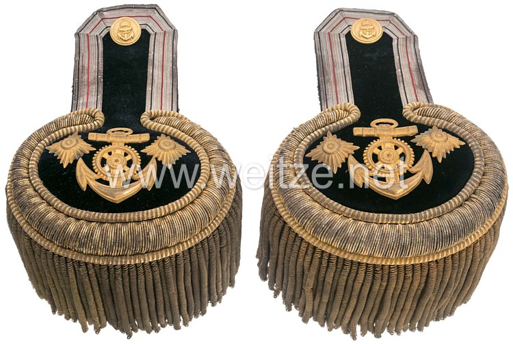Kaiserliche Marine Paar Epauletten für einen Marine-Stabsingenieur