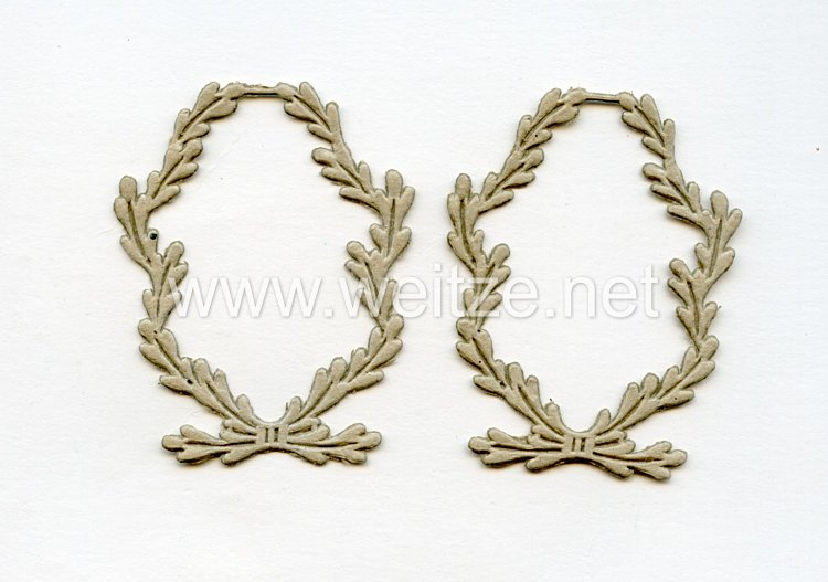 Luftwaffe, 2 Schablonen für Kragenspiegel für Offiziere