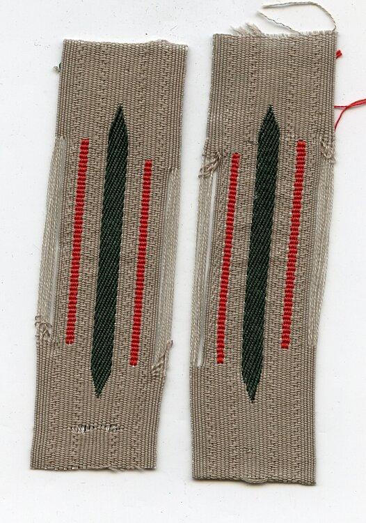 Wehrmacht Heer Paar Kragenspiegel für Mannschaften Artillerie