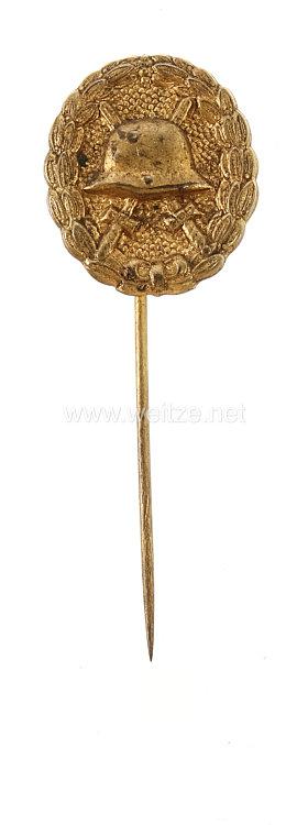 Verwundetenabzeichen in Gold 1918 - Miniatur