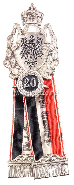 Elsass-Lothringen Krieger Landes Verein Strassburg Ehrenzeichen für 20 Jahre Mitgliedschaft