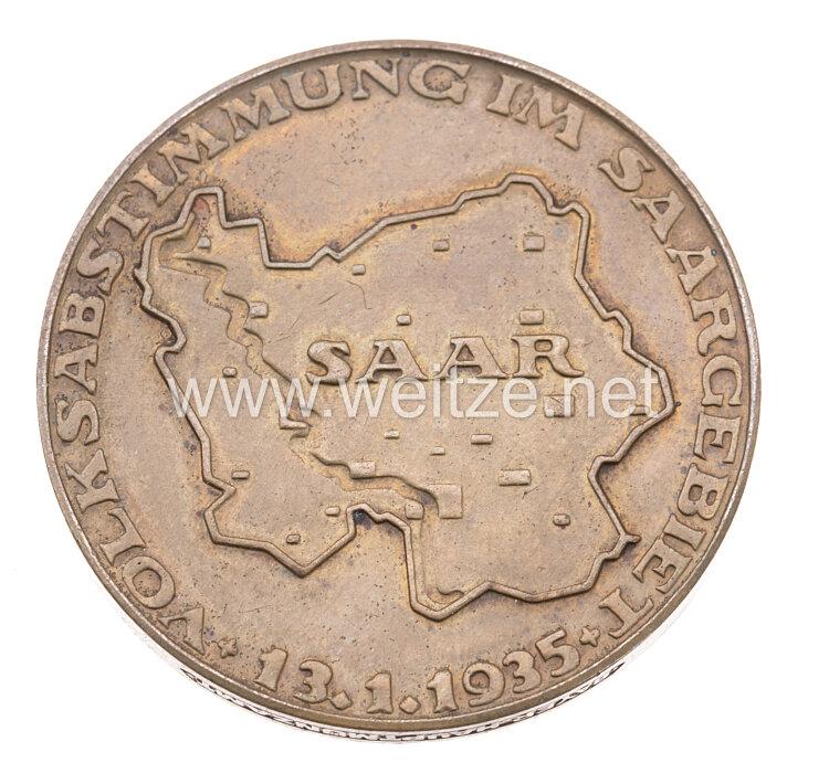 """III. Reich - Erinnerungsmedaille """" Deutsch die Saar immerdar """""""