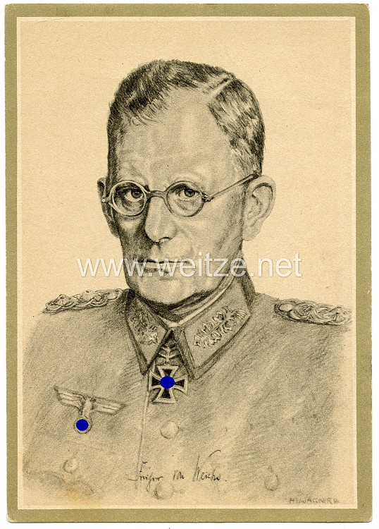 Heer - Propaganda-Postkarte von Ritterkreuzträger Generaloberst Frhr. von Weichs