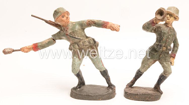 Elastolin - Heer Handgranatenwerfer und Sturmtrompeter