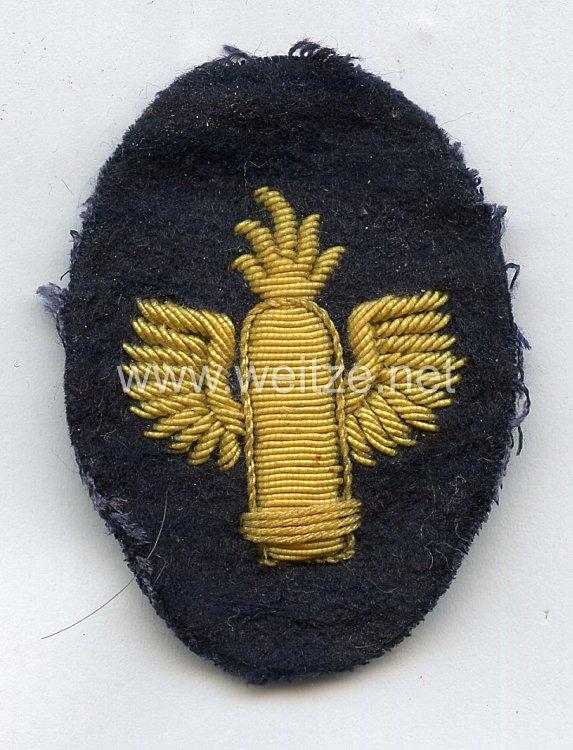 Kriegsmarine einzel Ärmelabzeichen für Marineartillerieoffiziere
