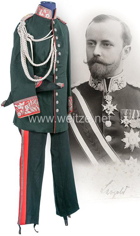 Lippe-Detmold Gala-/Haus-Uniform aus dem persönlichen Nachlass des Fürsten Leopold IV. (1871-1949)