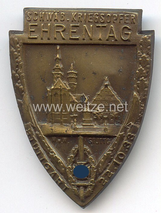 NSKOV - Schwäb. Kriegsopfer Ehrentag Stuttgart 22.10.1933