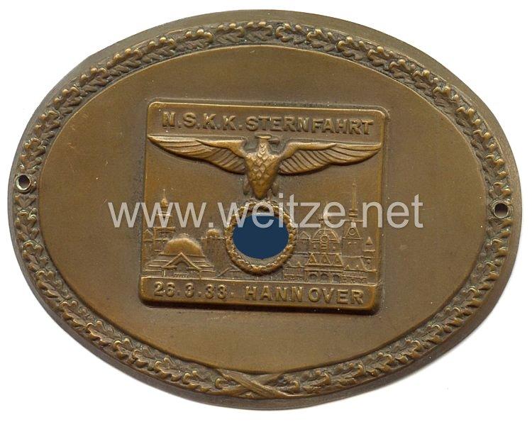 """NSKK - nichttragbare Teilnehmerplakette - """" NSKK Sternfahrt 26.3.1933 Hannover """""""