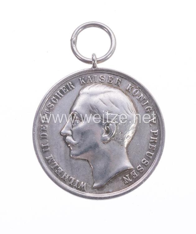 Preußen tragbare silberne Schießpreismedaille für das Infanterie-Regiment Graf Barfuss (4. Westfälisches) Nr. 17 von 1897
