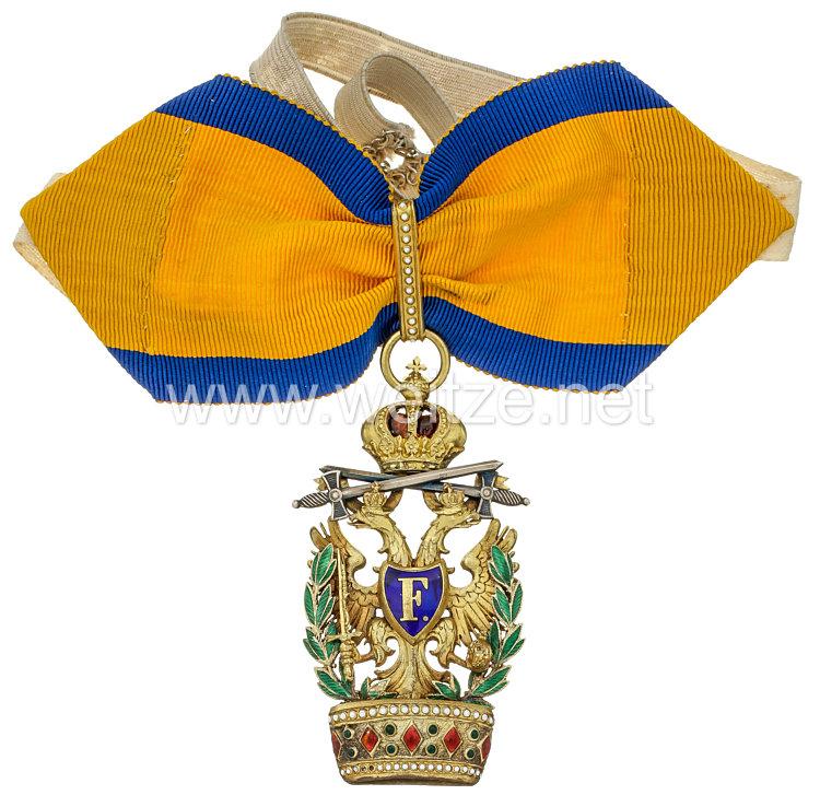 Kaiserlich Österreichischer Orden der Eisernen Krone 2. Klasse mit Kriegsdekoration und Schwertern niederen Grades
