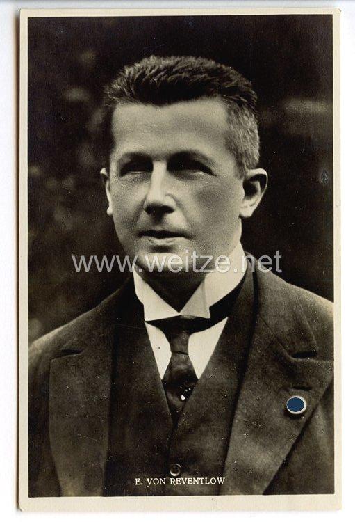 III. Reich - Portraitpostkarte von Ernst Graf zu Reventlow ( Schriftsteller undnationalsozialistischer Politiker )
