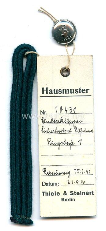 III. Reich Sicherheits- und Hilfsdienst Einzel Schulterklappe Rangstufe 1.