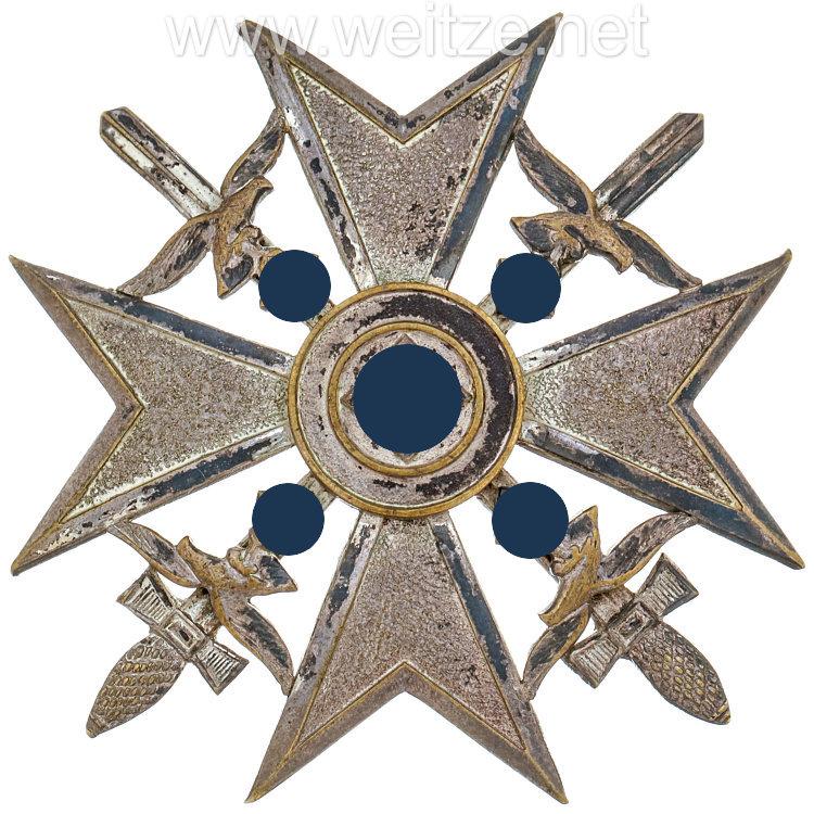 Spanienkreuz in Silber mit Schwertern - Otto Schickle
