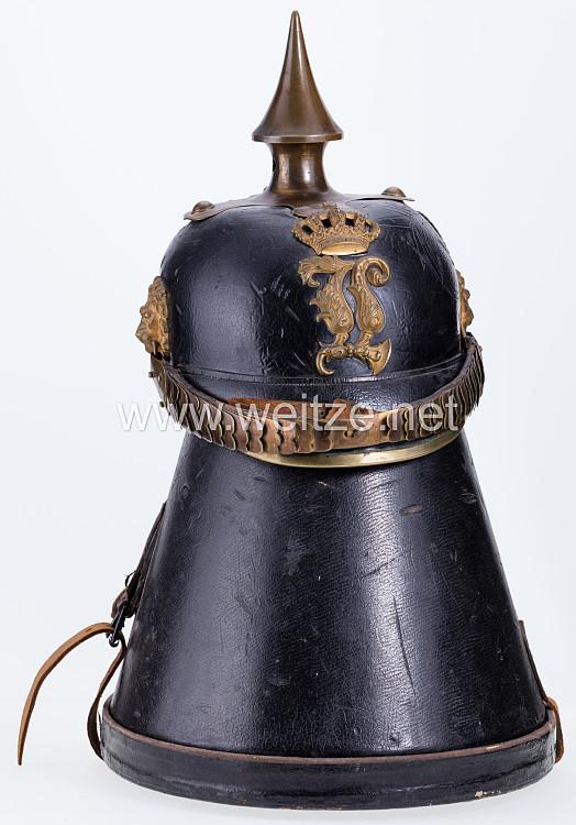 Bayern Pickelhaube Modell 1879 für Offiziere der Schweren Reiter