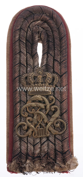 Preußen 1. Weltkrieg Einzel Schulterstück für einen Leutnant im Leib-Grenadier-Regiment König Friedrich Wilhelm III. (1. Brandenburgisches) Nr. 8