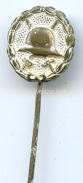 Verwundetenabzeichen in Silber 1918 - Miniatur