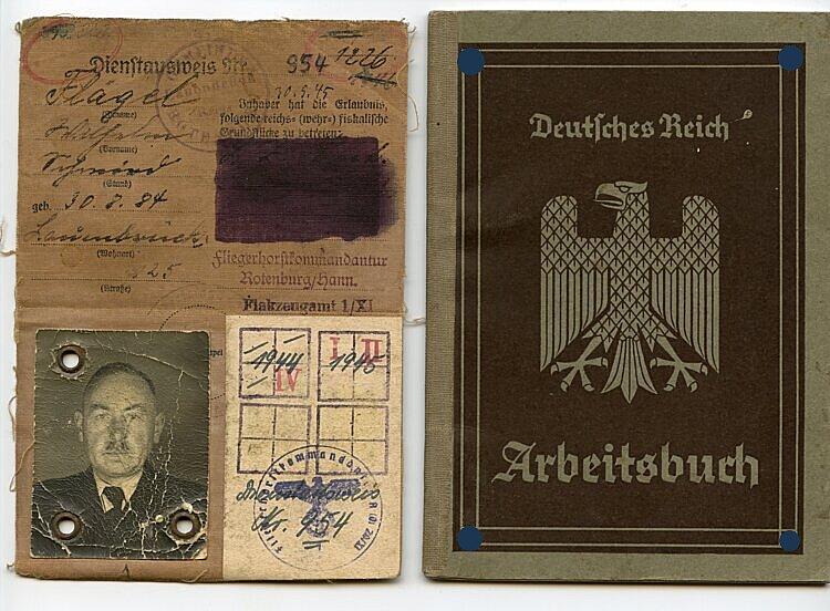Fliegerhorstkommandantur Rotenburg/Hannover - Dienstausweis
