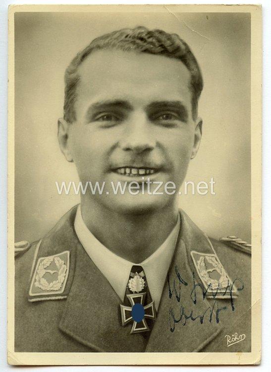 Luftwaffe - Originalunterschrift von Ritterkreuzträger Major Walter Storp