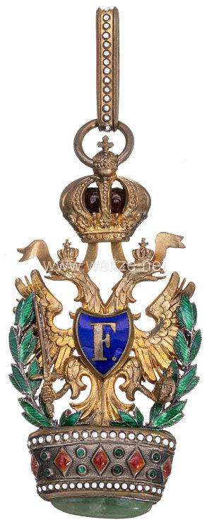 Kaiserlich Österreichischer Orden der Eisernen Krone 2. Klasse mit Kriegsdekoration