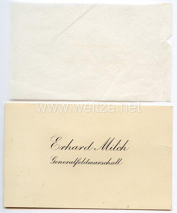 Luftwaffe - Generalfeldmarschall Erhard Milch - seine persönliche Visitenkarte