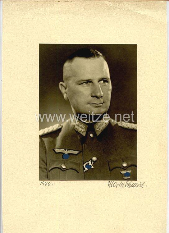 Heer - Originalunterschrift vom späteren Ritterkreuzträger Generalmajor Stephan Rittau
