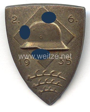 Stahlhelmbund - Treffabzeichen - 2.6.1935 Württemberg ( mit Hakenkreuz )