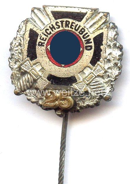 Reichstreubund ehemaliger Berufssoldaten ( RTB ) -silberne Ehrennadel für 25 jährige Mitgliedschaft