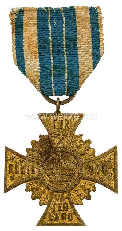 Bayern Regiments-Erinnerungskreuz In Treue fest - Für König und Vaterland