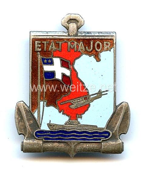 """Frankreich Indochina Marine Abzeichen """"Etat Major Marine en Indochine"""""""