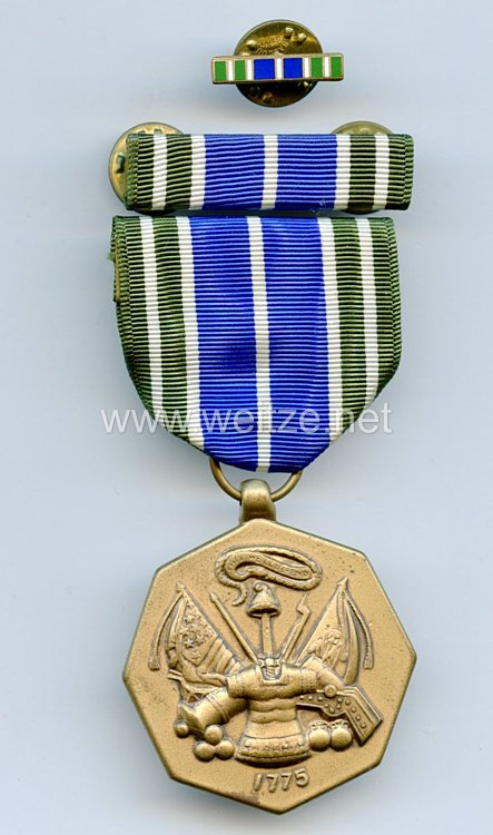 USA Medal for Military Achievement with Ribbon Bar and Lapel Pin