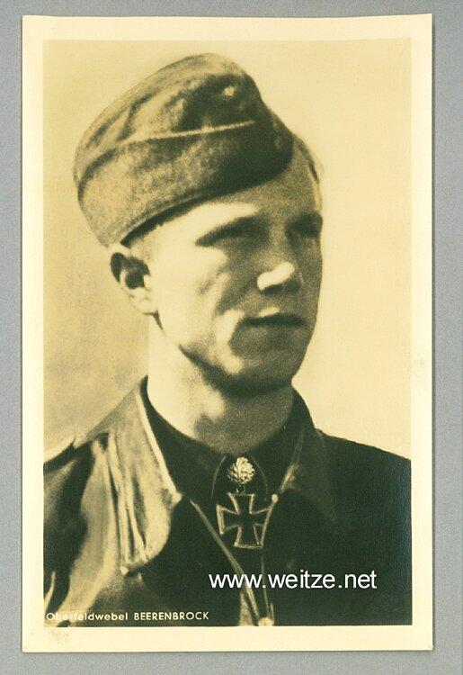 Luftwaffe - Portraitpostkarte von Ritterkreuzträger Oberfeldwebel Franz-Josef Beerenbrock