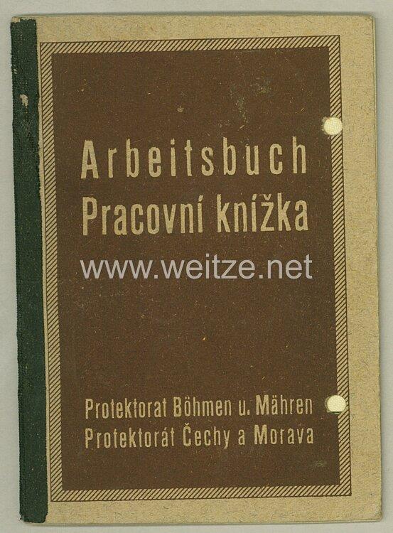 III. Reich - Protektorat Böhmen und Mähren - Arbeitsbuch für eine Frau des Jahrgangs 1898 aus Wien