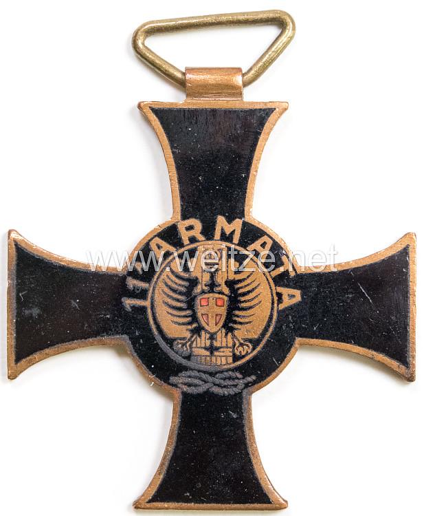 "Italien 2. Weltkrieg Kreuz ""11. Armata"", 1940"