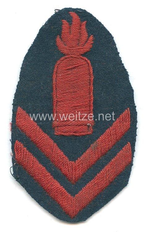 Kaiserliche Marine Ärmelabzeichen Sonderausbildung Geschützführer für mittlere Artillerie